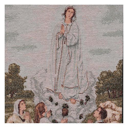 Tapeçaria Aparição Nossa Senhora de Fátima 55x40 cm 2