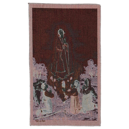 Our Lady apparition at Fatima tapestry 21.5x15.5