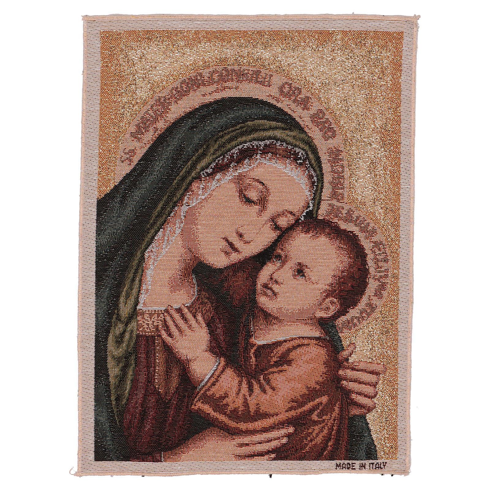 Tapiz Virgen del Buen Consejo oro 40x30 cm 3
