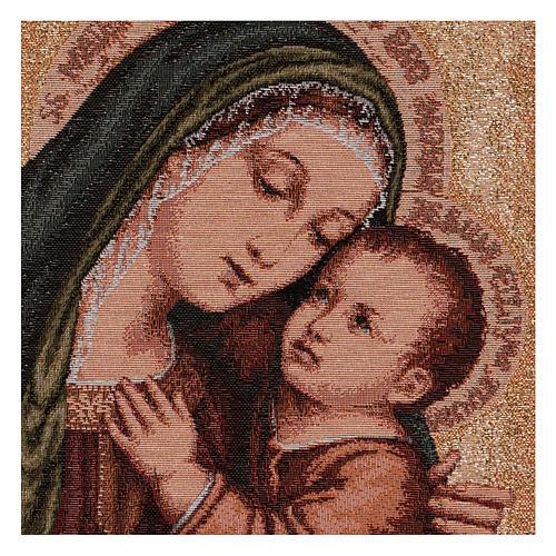 Tapiz Virgen del Buen Consejo oro 40x30 cm 2