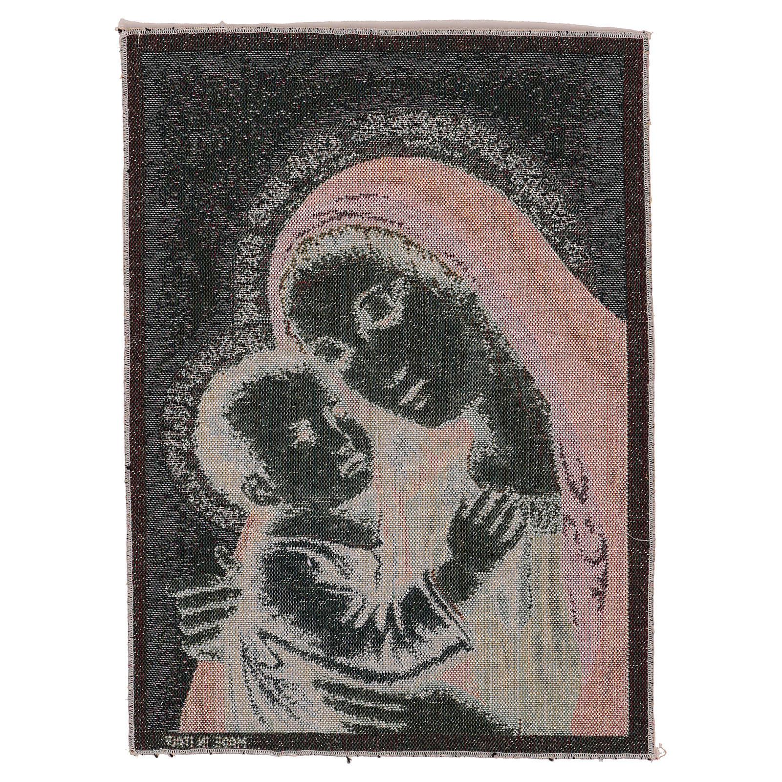 Arazzo Madonna del Buon Consiglio oro 40x30 cm 3