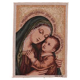 Arazzo Madonna del Buon Consiglio oro 40x30 cm s1
