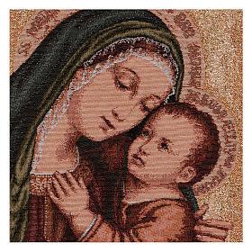 Arazzo Madonna del Buon Consiglio oro 40x30 cm s2