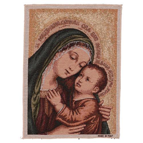 Arazzo Madonna del Buon Consiglio oro 40x30 cm 1