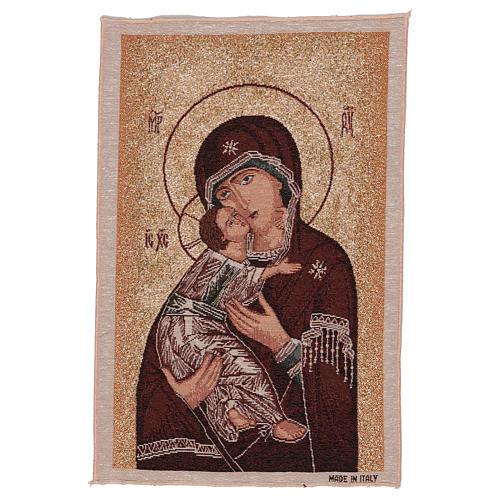 Arazzo Madonna delle Tenerezza oro 45x30 cm 1