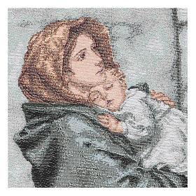 Arazzo Madonna del Buon Riposo 35x30 cm s2