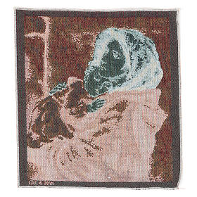 Arazzo Madonna del Buon Riposo 35x30 cm s3