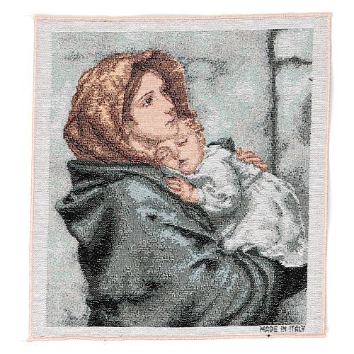 Arazzo Madonna del Buon Riposo 35x30 cm 1