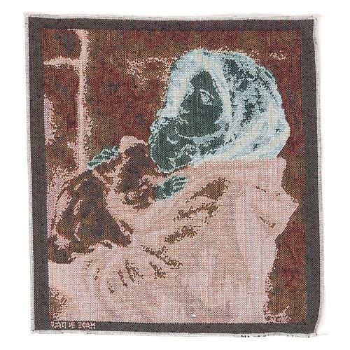 Arazzo Madonna del Buon Riposo 35x30 cm 3