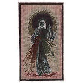 Arazzo Misericordioso fondo scuro 50x30 cm s3