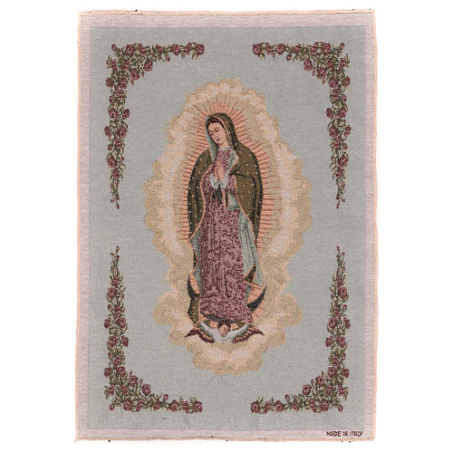 Our Lady of Guadalupe tapestry 21.5x15.5