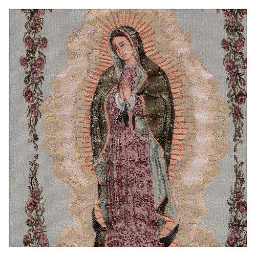"""Our Lady of Guadalupe tapestry 19x12"""""""