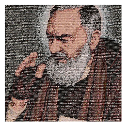 Saint Pio with letters tapestry 40x30 cm 2
