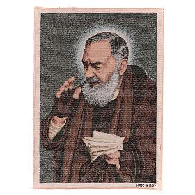Tapiz Padre Pío letras 40x30 cm s1