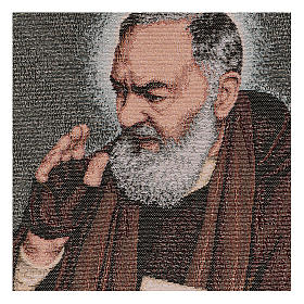Tapiz Padre Pío letras 40x30 cm s2