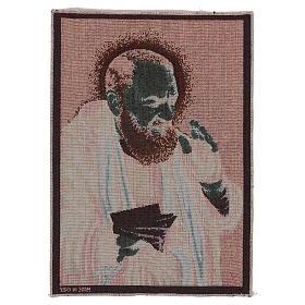 Tapiz Padre Pío letras 40x30 cm s3