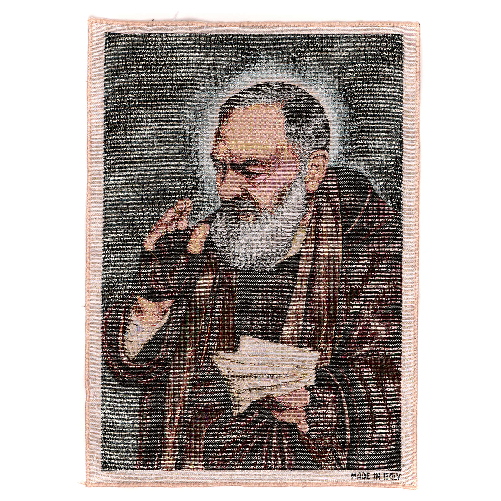 Tapisserie Saint Pio avec lettres 40x30 cm 3