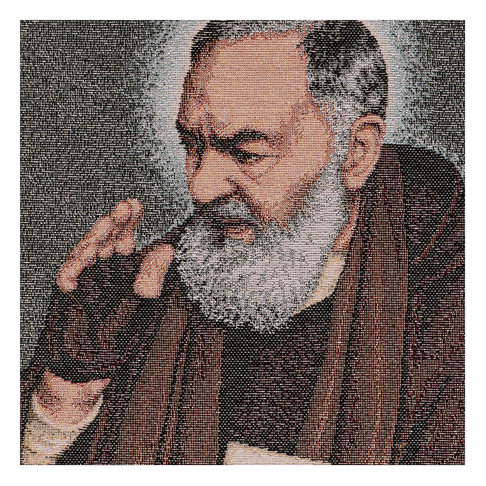 Arazzo Padre Pio lettere 40x30 cm 3