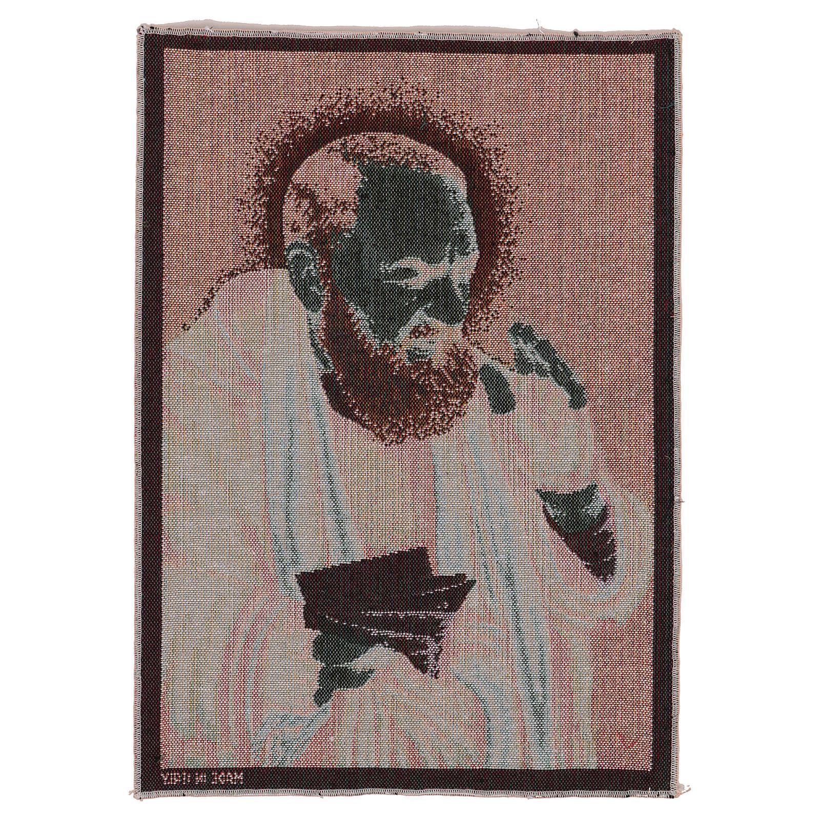 Gobelin Ojciec Pio listy 40x30 cm 3