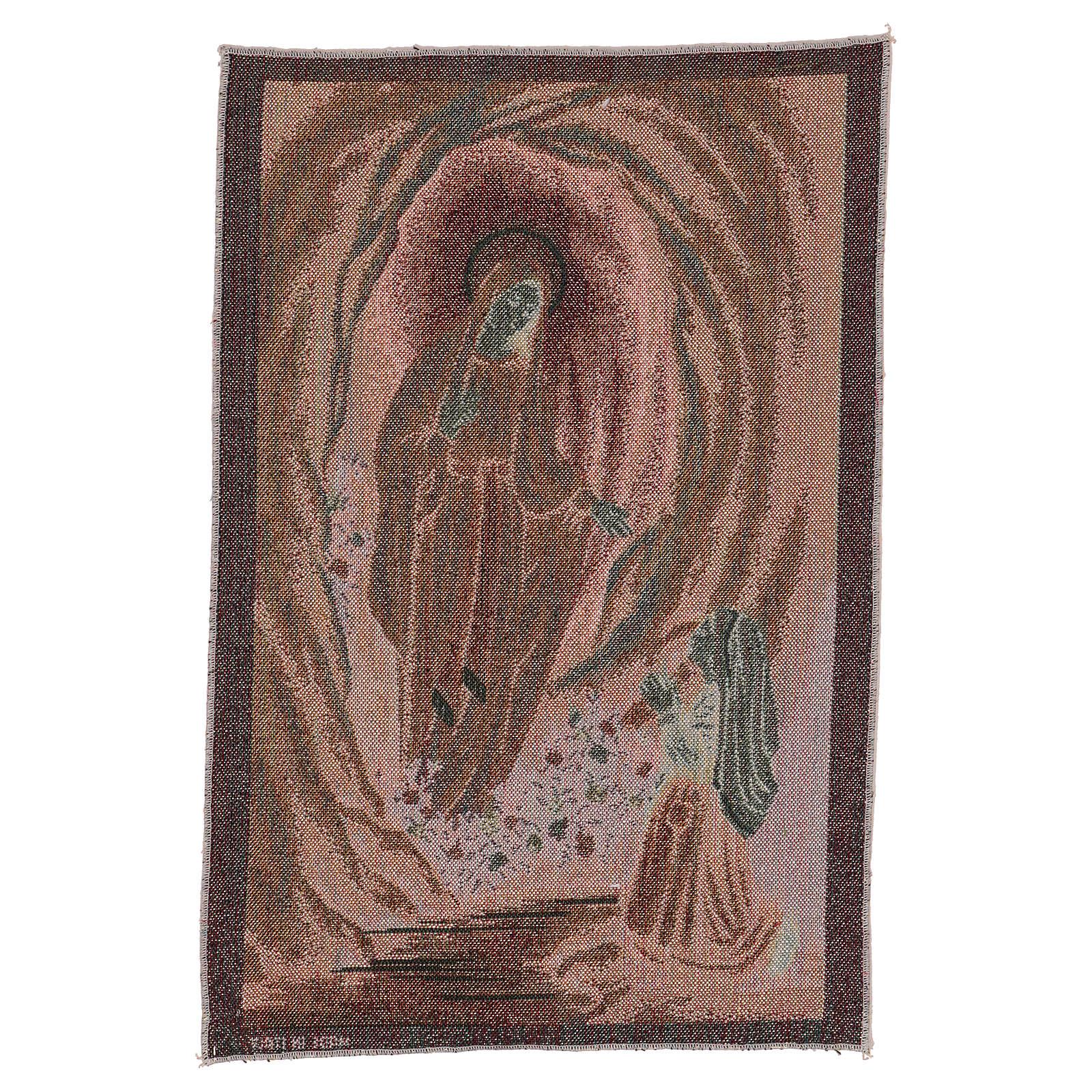 Arazzo Apparizione di Lourdes 45x30 cm 3