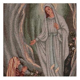Arazzo Apparizione di Lourdes 45x30 cm s2