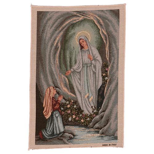 Arazzo Apparizione di Lourdes 45x30 cm 1