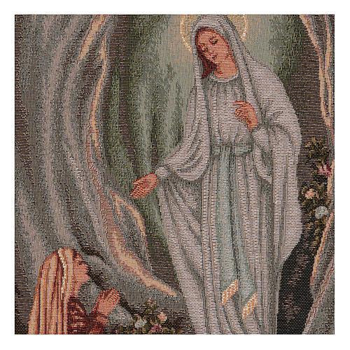 Arazzo Apparizione di Lourdes 45x30 cm 2
