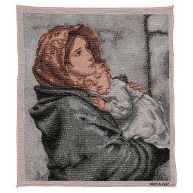 Arazzo Madonna del Buon Riposo 45x40 cm s1