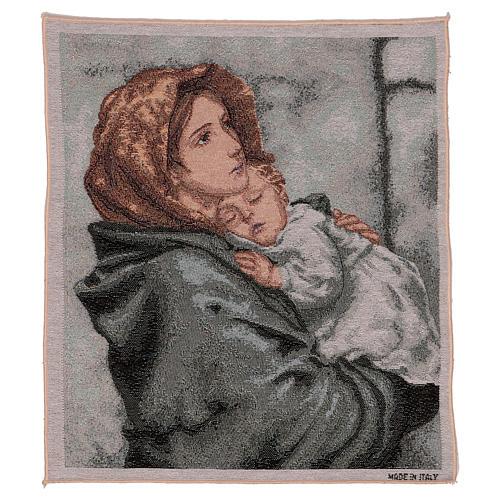 Arazzo Madonna del Buon Riposo 45x40 cm 1