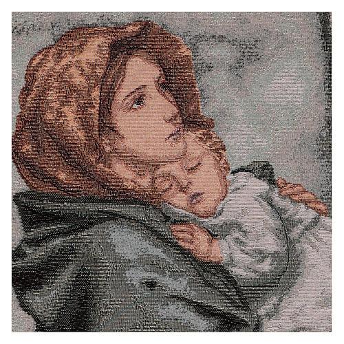 Arazzo Madonna del Buon Riposo 45x40 cm 2