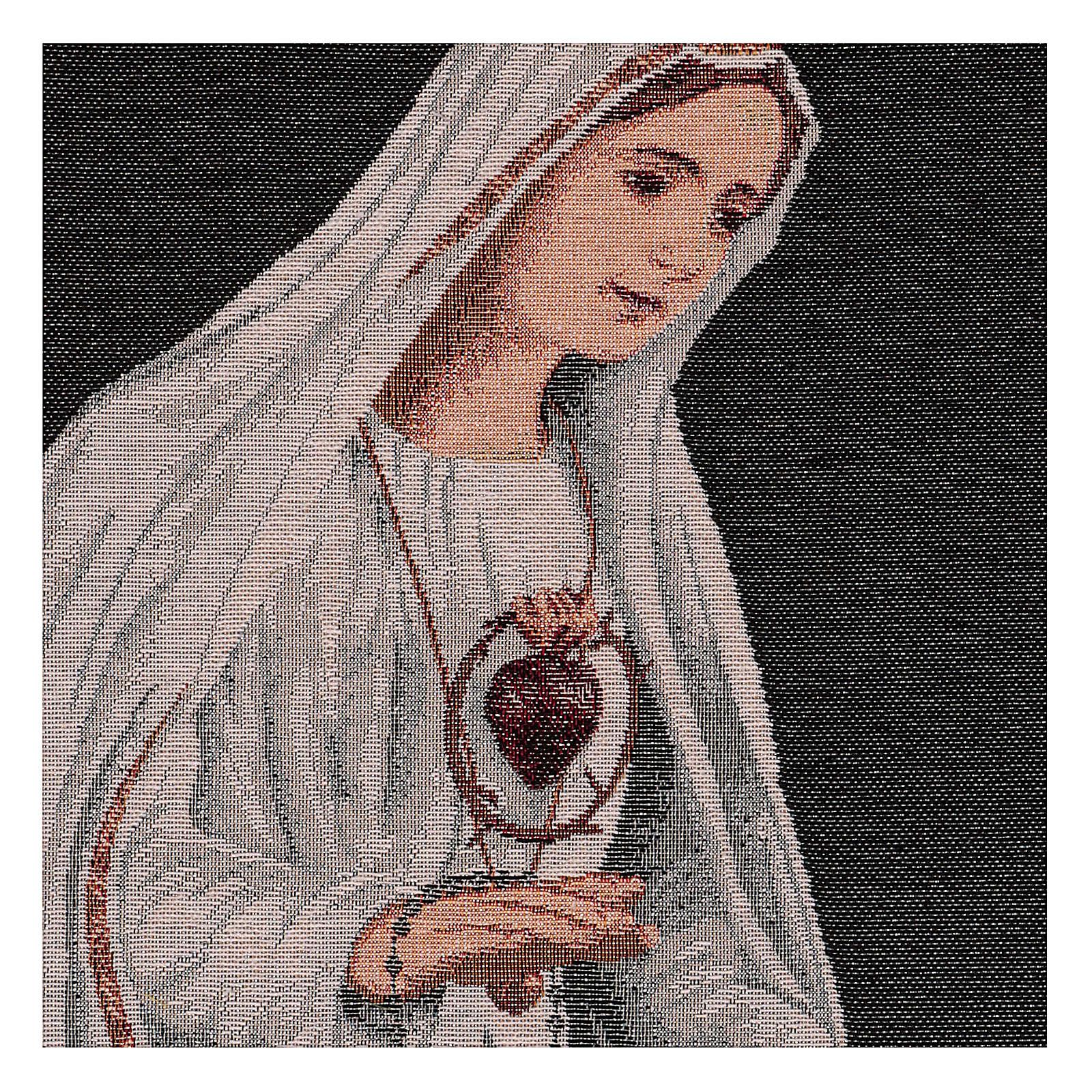 Arazzo Sacro Cuore di Fatima 50x40 cm 3