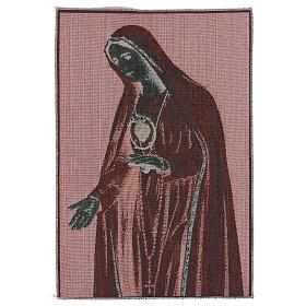 Arazzo Sacro Cuore di Fatima 50x40 cm s3