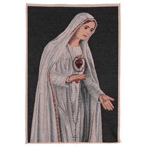Arazzo Sacro Cuore di Fatima 50x40 cm 1