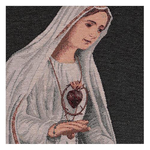 Arazzo Sacro Cuore di Fatima 50x40 cm 2