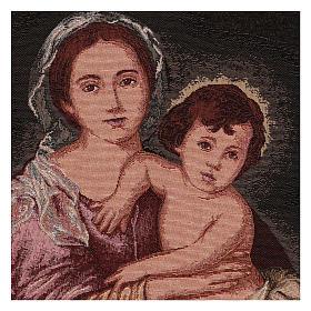 Arazzo Madonna del Murillo cornice ganci 50x40 cm s2