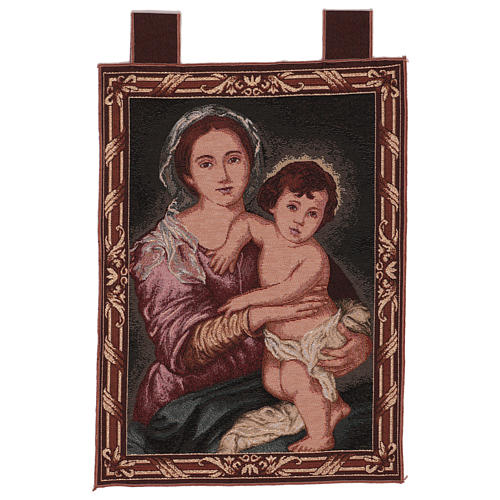 Arazzo Madonna del Murillo cornice ganci 50x40 cm 1