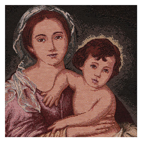 Arazzo Madonna del Murillo cornice ganci 50x40 cm 2