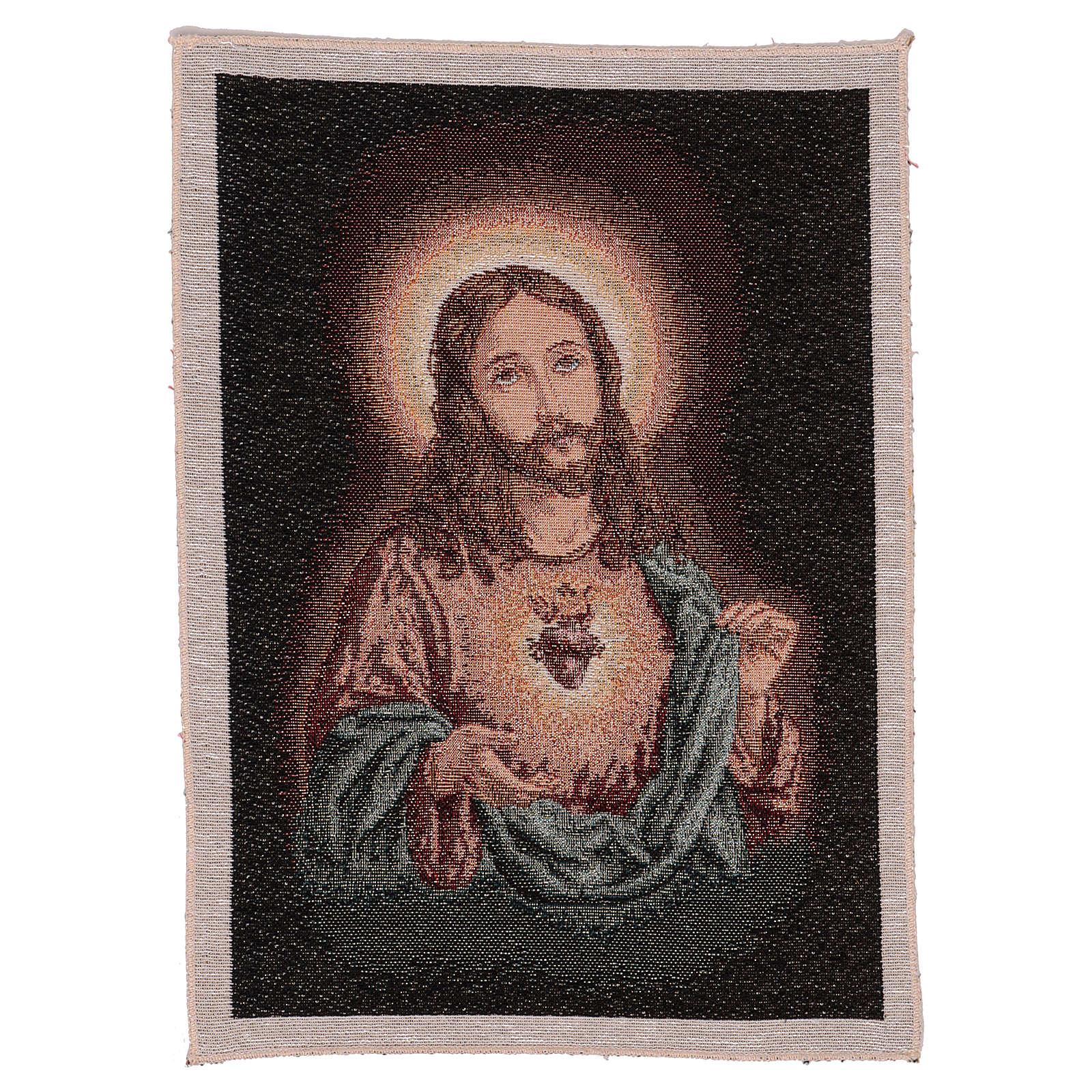 Arazzo Sacro Cuore di Gesù 40x30 cm 3