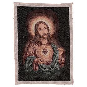 Arazzo Sacro Cuore di Gesù 40x30 cm s1