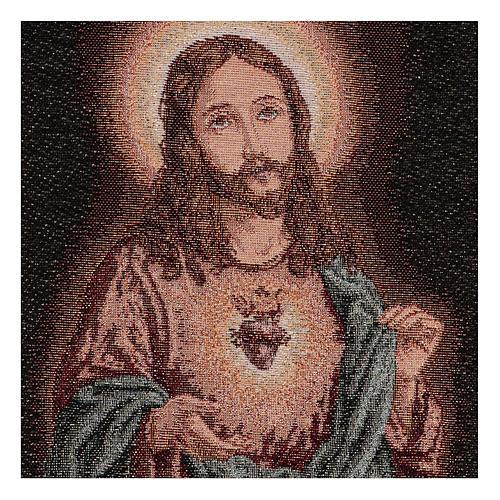 Arazzo Sacro Cuore di Gesù 40x30 cm 2