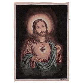 Arazzo Sacro Cuore di Gesù 50x40 cm s1