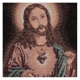 Arazzo Sacro Cuore di Gesù 50x40 cm s2