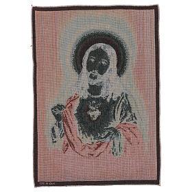 Arazzo Sacro Cuore di Gesù 50x40 cm s3