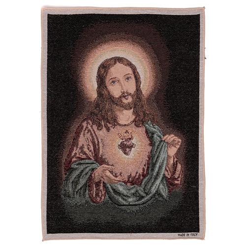 Arazzo Sacro Cuore di Gesù 50x40 cm 1
