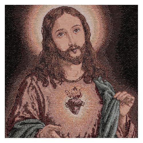 Arazzo Sacro Cuore di Gesù 50x40 cm 2