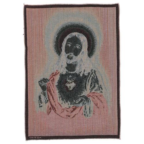 Arazzo Sacro Cuore di Gesù 50x40 cm 3