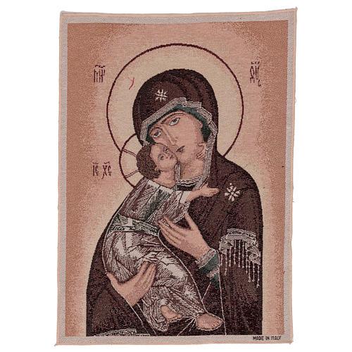 Tapisserie icône Vierge de Tendresse 50x40 cm 1