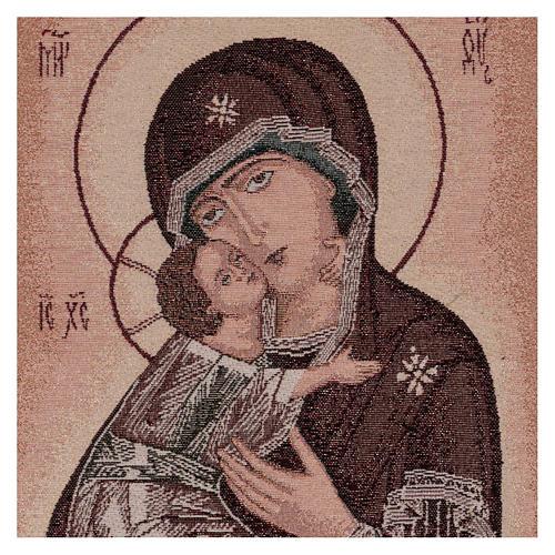Tapisserie icône Vierge de Tendresse 50x40 cm 2