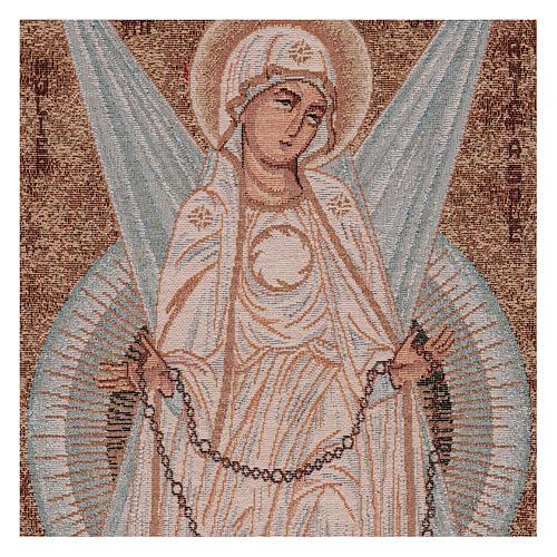 Arazzo Madonna con Raggi 30x60 cm 2
