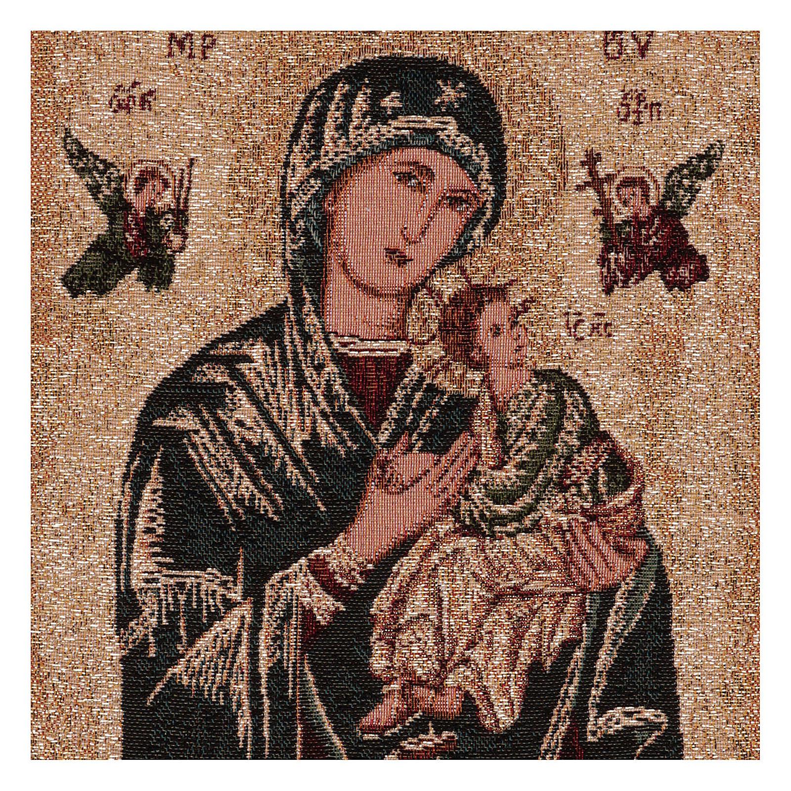 Arazzo Madonna del Perpetuo Soccorso oro 40x30 cm 3